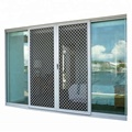 Four panels aluminum sliding screegarage sliding screen doorn door with stainley steel burglar proof