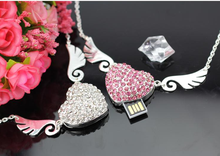 Gadget Heart shaped waterproof Jewelry pen drive usb flash for gift or use
