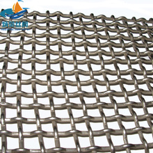 stainless steel flat top weaving crimped mine screen wire mesh