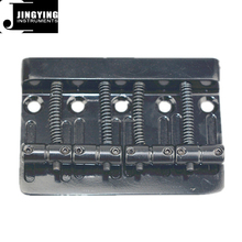 4 Strings Black Color Zinc Alloy+Iron Material Electric Bass Guitar Bridge&Tailpieces