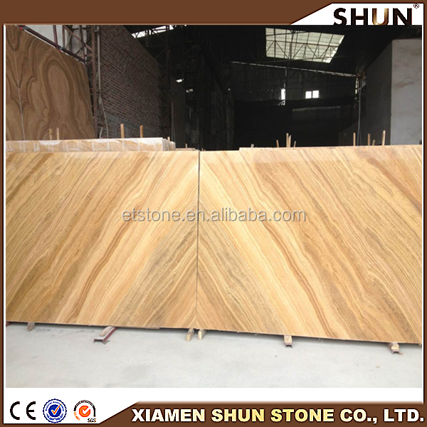 Marble product prices,Yellow woodenstone on stocking,Golden color marble floor tiles