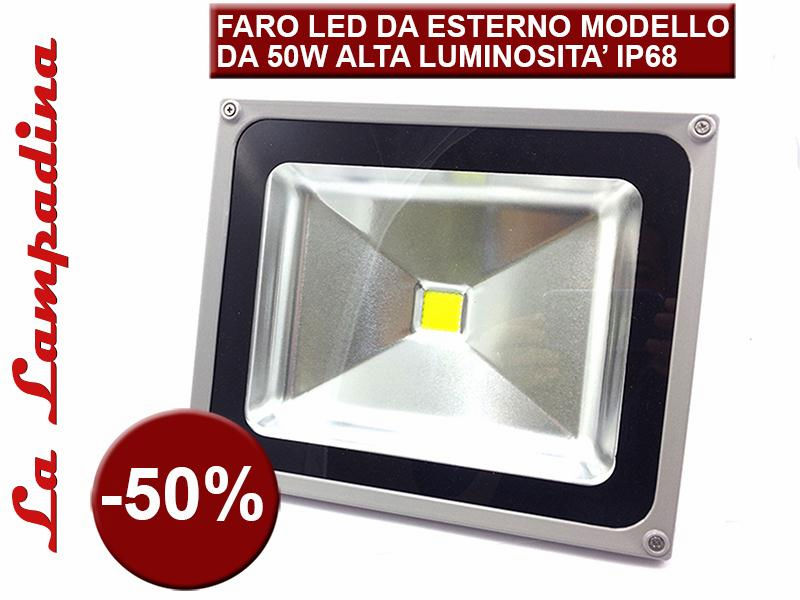OUTDOOR LED FLOODLIGHT 50W / FARETTO LED DA ESTERNO 50W
