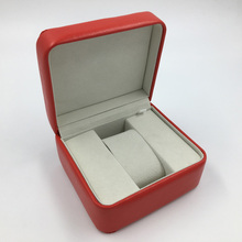 Wholesale Luxury PU leather MDF wooden single watch packaging box