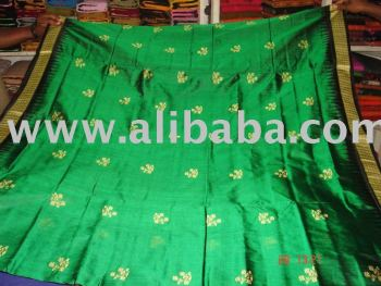 Bomkai Sambalpuri Embroidered Silk Designer Party Saree