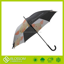 Auto open logo print straight umbrella corporate promotional gift items