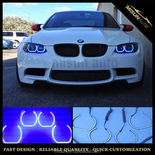 DTM Style Horseshoe RGB Multi-Color LED Angel Eyes Halo Rings Colors For BMW 1 2 3 4 5 Series X1 X3 X4 Headlights