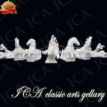 Outdoor horse polished marble custome fountain WM0021