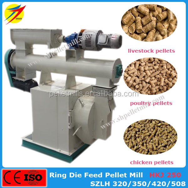 CE ISO approved chicken pig cow goat feed pellets machine for corn,rice,wheat
