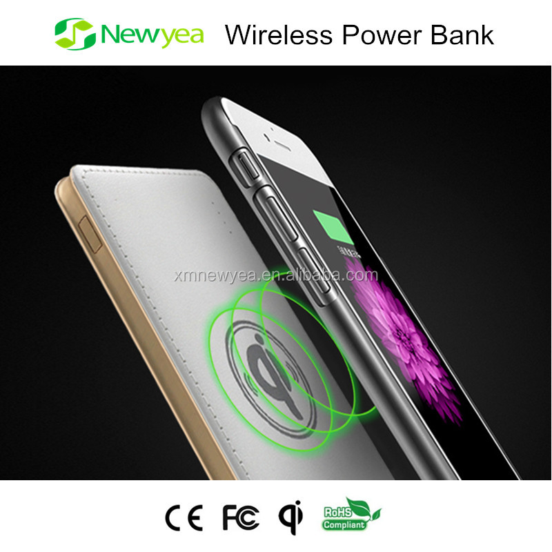 (A1) New Products 2016 Newyea Wireless Charging Solar Power Bank Charger Portable For Mobile Phone, Smart Watch And Laptop