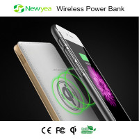 (A1) New Products 2016 Newyea Wireless Charging Power Bank 5000mah Portable For Mobile Phone, Smart Watch And Laptop