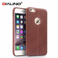 QIALINO Handmade Case, Perfect Fit Luxury Cow Leather Back Cover For iPhone 6 6s Plus