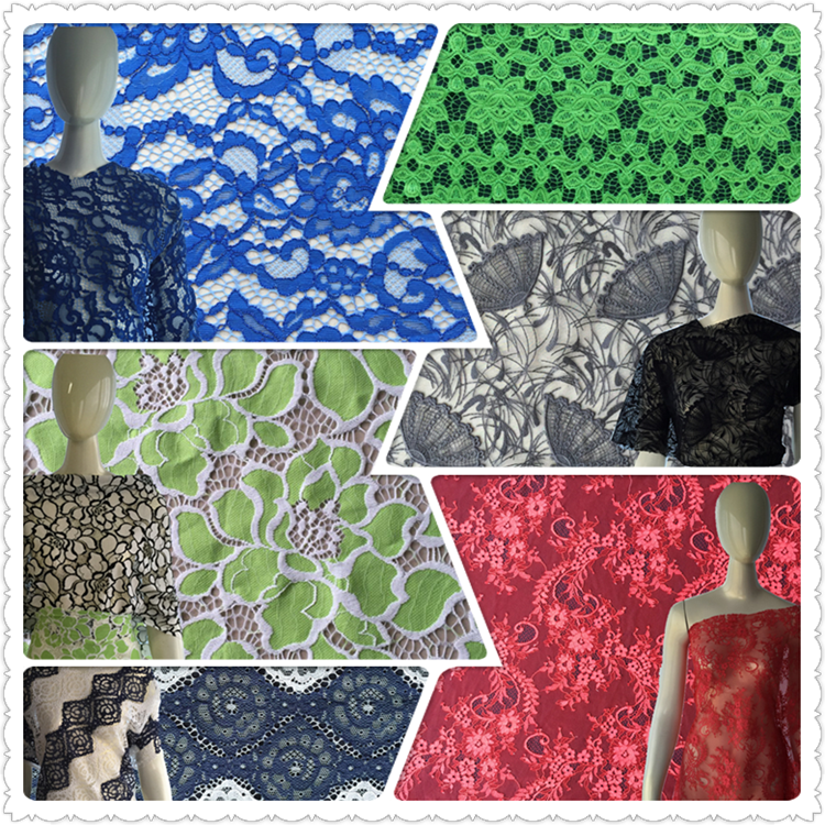Hot sale 3D air mesh embroidery fabric for dress
