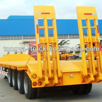 Heavy Machinery Transport 3axles 4axles Lowbed