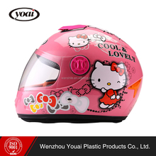 2017 newest cartoon cute design kids fancy full face helmet