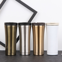 best seller 2018 16oz double stainless steel vacuum insulated coffee mug, reusable coffee cup with lid