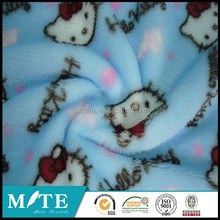 cats polyester FDY DTY printed polar fleece with brushed for blanket garment scarf