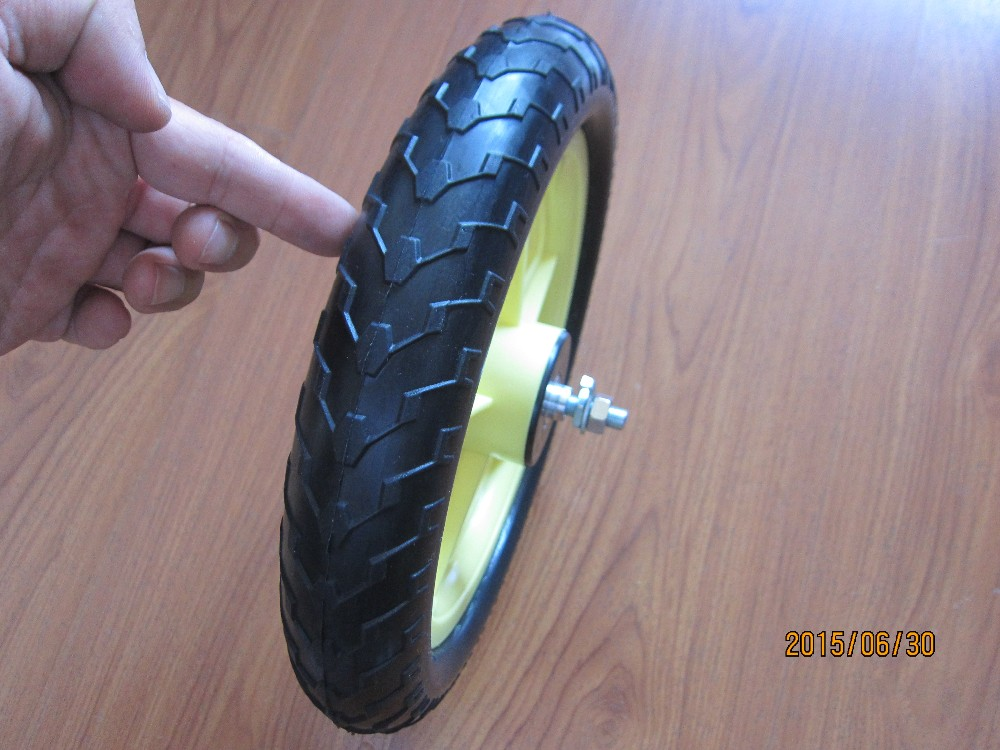 bicycle plastic trailer pu foam wheels 12x1.75