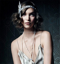 Gatsby Luxury Crystal India Wedding Hair Accessories for Bride