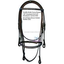 Snaffle Bridle Twin thread hand fancy stitched.