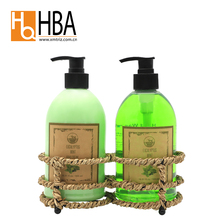 Wholesale antibacterial liquid hand soap and hand lotion with grass basket wrap