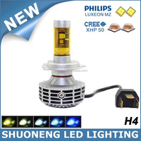 Widely Used 3000lm High Lumen Car P43T 9003 HB2 H4 Head Bulb LED