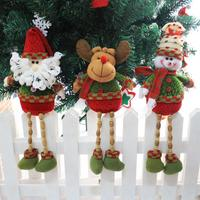 Christmas Tree Hanging Ornament Santa Claus Snowman Elk Long Legs Party Decor