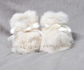 CX-SHOES-07E Hand Made Genuine Rabbit Fur Baby Shoes