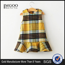 MGOO OEM Services Baby Girl Yellow Dress 1 Years Old Infant Sleeveless Mermaid Korea Clothing Children 7356
