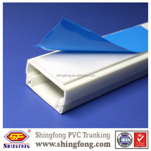 Decorative industrical /wire pvc trunking electrical plastic cable trunking for Venezuela Market Quality Choice