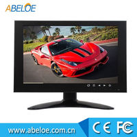7' B/W CRT Home Surveillance 4 Channels Cameras Security CCTV Monitor