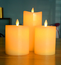 Moving Wick religious Flameless LED Advent Candles for sale
