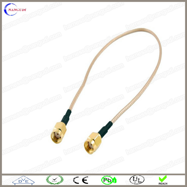 100cm SMA male to SMA male plug Pigtail Coaxial Jumper Cable RG316