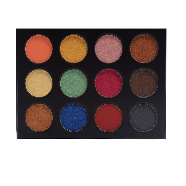 New Professional Eyes Shadow Waterproof Shimmer Powder Pigment 12color Eyeshadow Makeup Palette