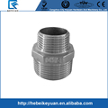 "Stainless Steel 304 NPT 2"" x 1"" Male Hex Nipple Threaded Reducer Pipe Fitting"
