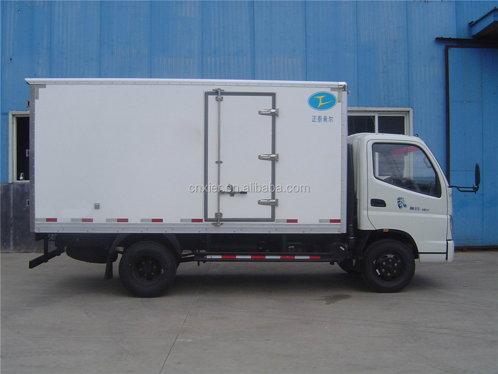 Ice Cream transport van box trucks/refrigerator truck/freezer box van truck