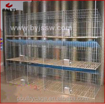 Commercial Industrial Rabbit Farm Cage And Rabbit Hutch With Pull Out Tray For Rabbits(H type)