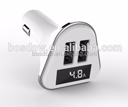 BS-R28S digital display car charger gps tracker with cigarette lighter and car charger
