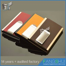 Business rfid safe credit card case aluminium roco