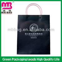 Black color elegent style custom logo print PP plastic gift packaging
