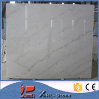 China carrara white marble with black lines