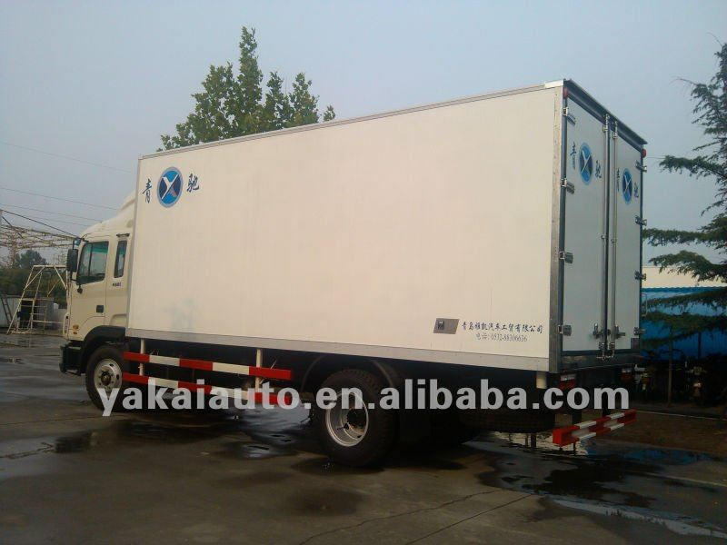 Insulated refrigerated shipping truck container/van box
