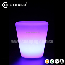 LED Light Up Flower Pot , Flower Pots Solar LED Lamp