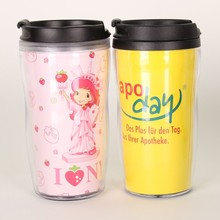 Creative plastic water bottle with paper insert log print and color custom