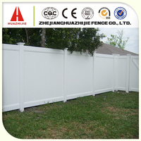 Pvc privacy fence for protecting