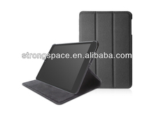 leather case for ipad mini 2 with folding stand and power on / off function by China