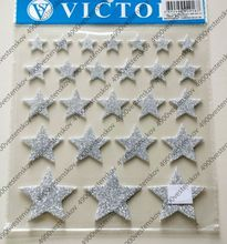 Self adhesive glitter 2mm EVA foam letter number sticker
