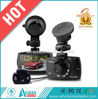 Dual lens car camera dash cam with sim card car dash camera / 2ch dash cam
