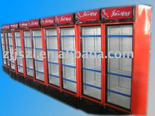 Upright refrigerated showcase, display cooler