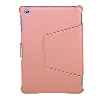 Orange PU Leather Case for iPad Mini 2 Cover Leather Case with Stand
