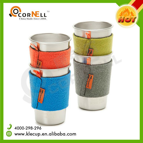 Colorful Leather Pack Stackable Item Stainless Steel Beer Cup Stainless Steel Pint Cup for Appointed Winery